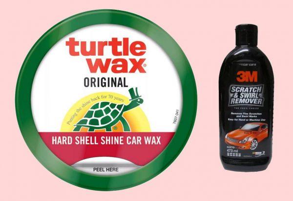 Полировочные средства Turtle Wax или 3M Scratch Removal