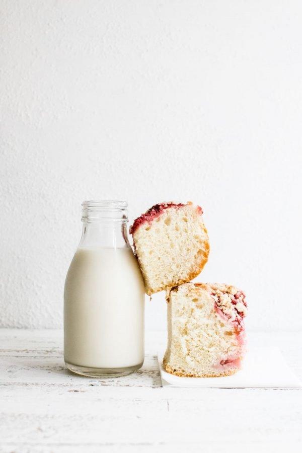 Молоко и кекс