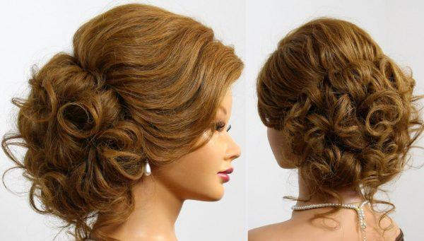 Манекен для создания причёсок в профиль и вид сзади