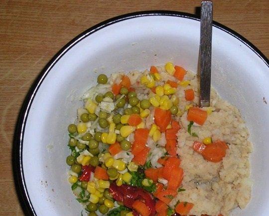 Смесь овощей с картофелем