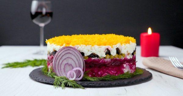 Послойный салат «Граф»