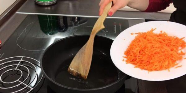 Обжарка моркови
