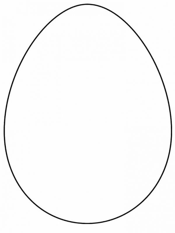 Шаблон пасхального яйца без рисунка