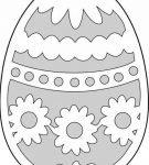 Шаблон пасхального яйца 1