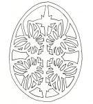 Шаблон пасхального яйца 2