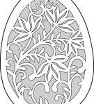 Шаблон пасхального яйца 3