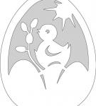 Шаблон пасхального яйца 4