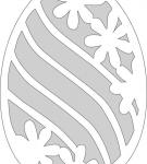 Шаблон пасхального яйца 6