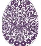 Шаблон пасхального яйца 10