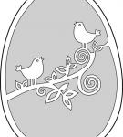 Шаблон пасхального яйца 13