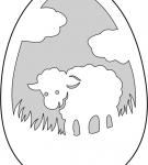 Шаблон пасхального яйца 15