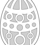 Шаблон пасхального яйца 21
