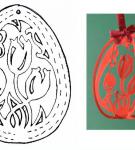 Шаблон пасхального яйца 24
