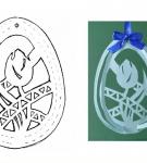 Шаблон пасхального яйца 25