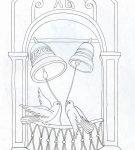 Шаблон пасхального приветствия 6