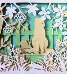 Композиционная вытынанка «Котёнок»