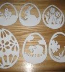 Вытынанки «Пасхальные яйца» 2