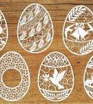 Вытынанки «Пасхальные яйца» 3