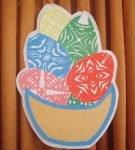 Вытынанка «Корзина с пасхальными яйцами»
