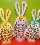 Упаковки для пасхальных яиц «Зайчики»