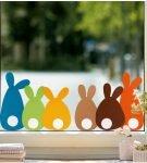 Украшение окна «Кролики»