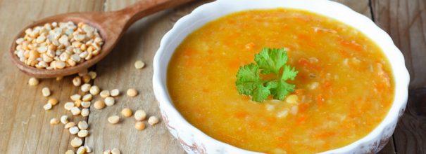 Даже без мяса гороховый суп получается очень вкусным и ароматным