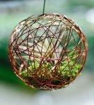 Цветок внутри шара