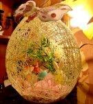 Подсветка пасхального яйца из ниток