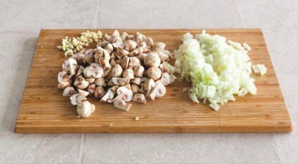 Лук, чеснок и грибы
