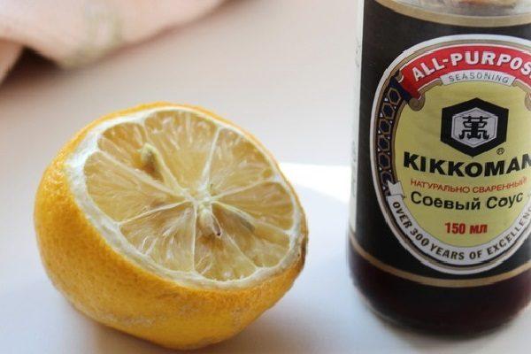 Лимон и соевый соус