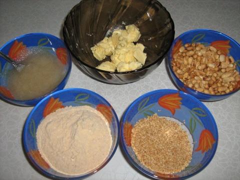 Масло, арахис, кунжут, мука