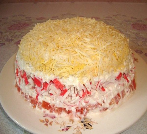 Салат-торт «Красное море»