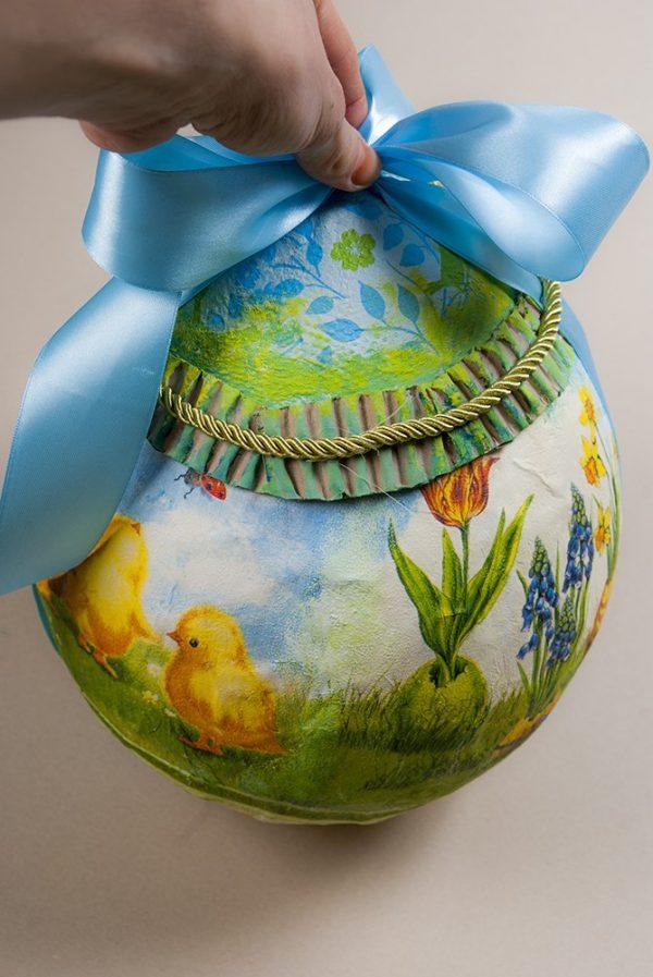 Пасхальное яйцо папье-маше