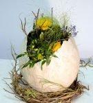 Яйцо папье-маше с цветами