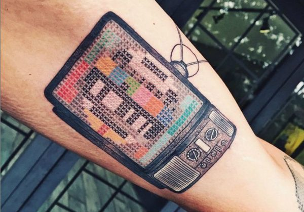 Татуировка с телевизором