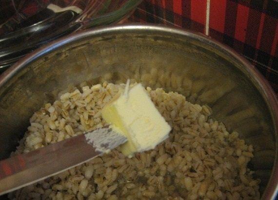 Масло в перловке