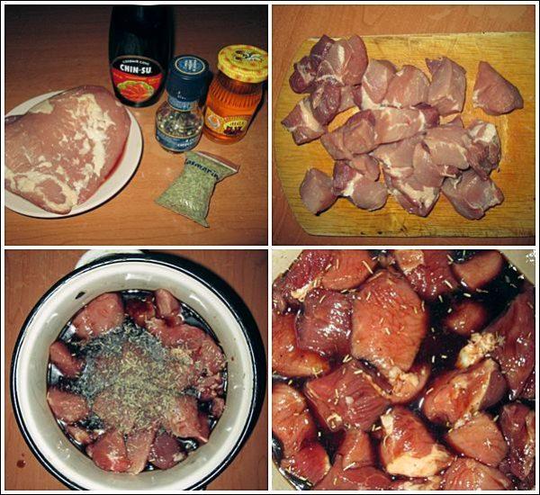 Свинина в соево-медовом маринаде