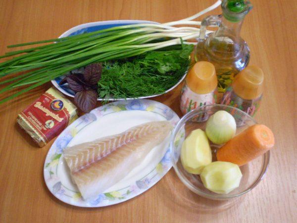 Рыба, сыр, овощи
