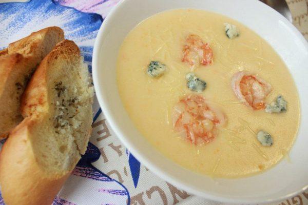 Рыбный суп-пюре с сыром