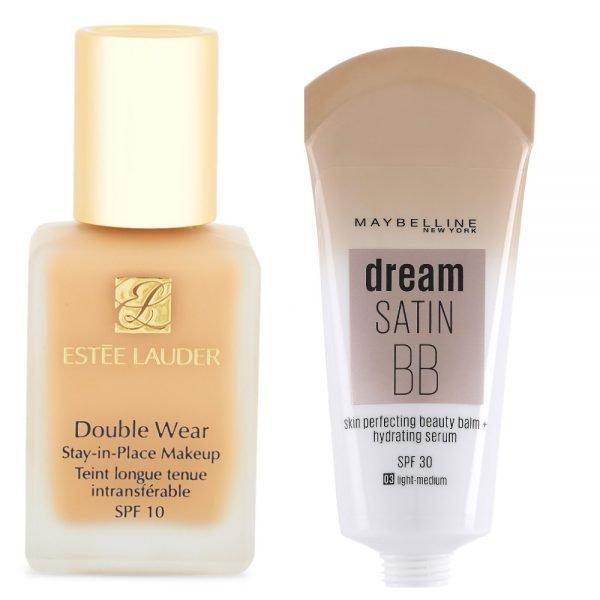 Тональные кремы Double Wear» от Estée Lauder и Dream Satin BB от Maybelline