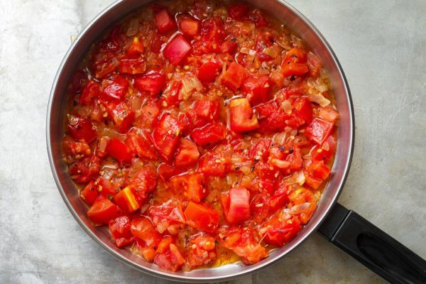 Тушёные томаты