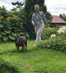 Татьяна Лазарева и собака