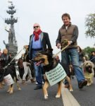 Ярмольник и Макаревич с собаками