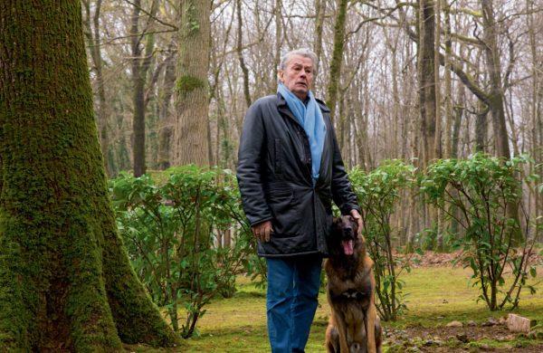 Ален Делон и овчарка