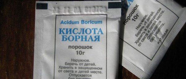 Пакет борной кислоты