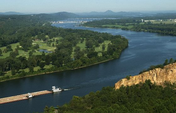 Вид на реку Арканзас