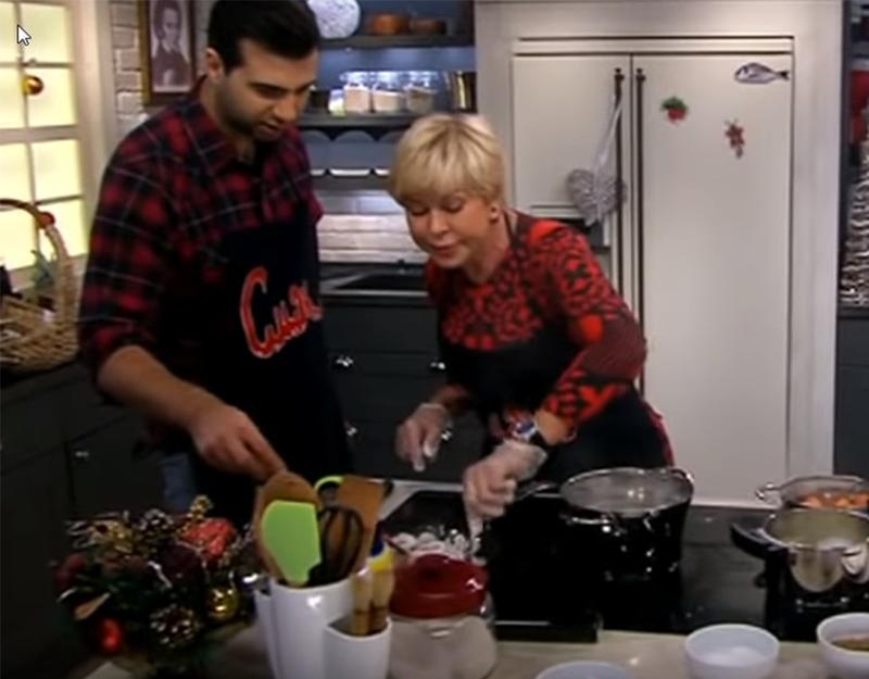 Любовь Успенская на кухне программы