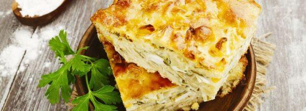 Быстрый пирог с капустой - ароматная выпечка с сочной начинкой