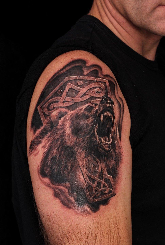 тату медведь коловрат картинки рентгеновском снимке