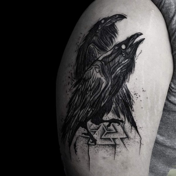 Тату вороны
